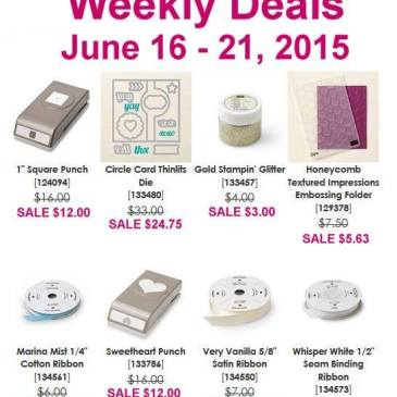 Maui Stamper Weekly Deals June 16-21 2015