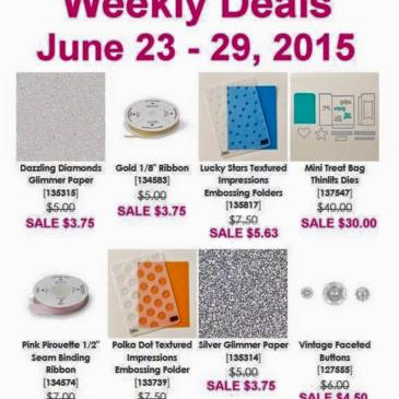 Maui Stamper Weekly Deals June 23-29, 2015