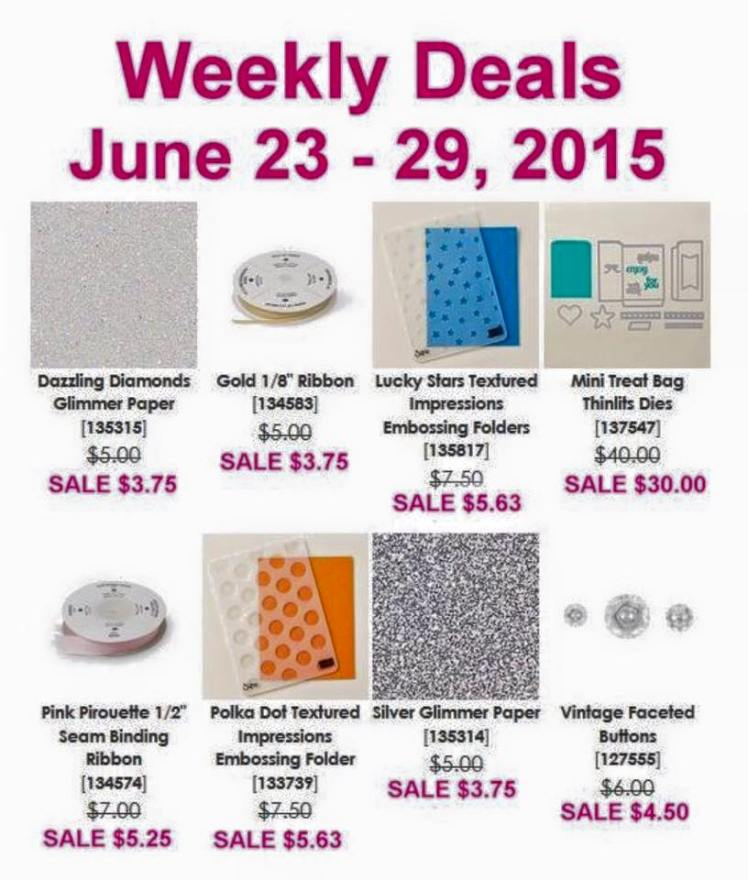 Maui Stamper Weekly Deals June 23-29, 2015