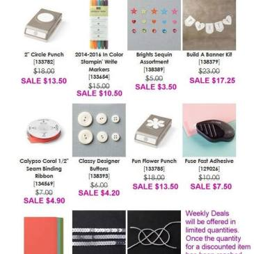 Stampin' Up! Weekly Deals June 30-July 6 2015