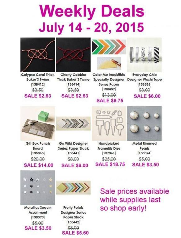 Maui Stamper Weekly Deal July 14-20, 2015