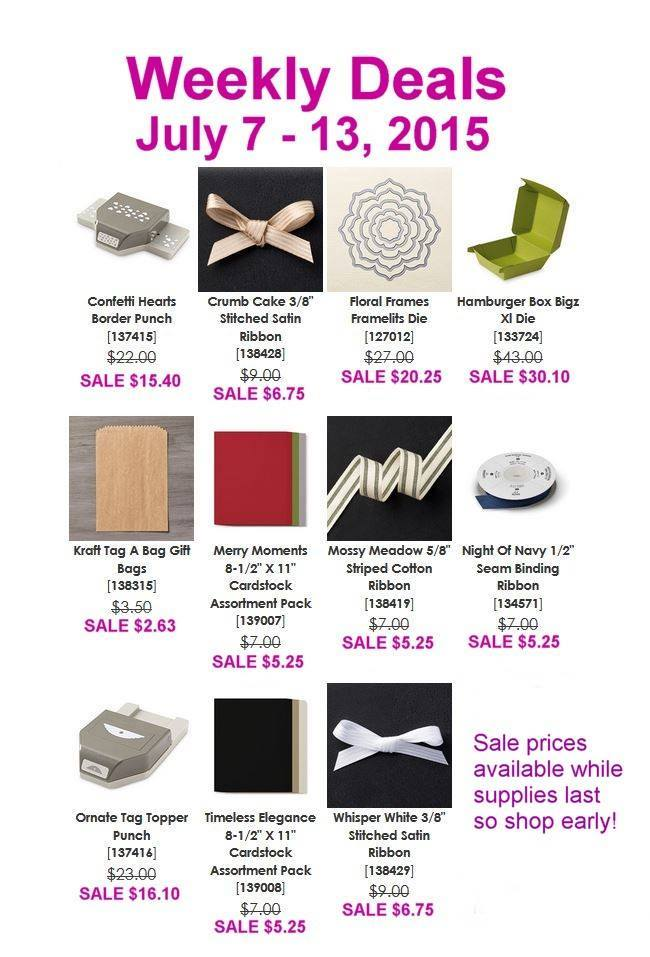Stampin' Up! Weekly Deals July 7 to 13, 2015