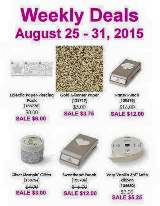 Maui Stamper Weekly Deals August 25-31, 2015