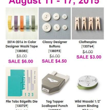 Maui Stamper Weekly Deals 2015-8-11