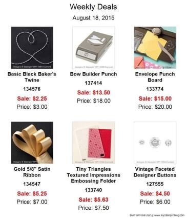 Maui Stamper Weekly Deals August 18 to 24