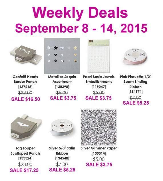 Maui Stamper Weekly Deals September 8 to 14, 2015