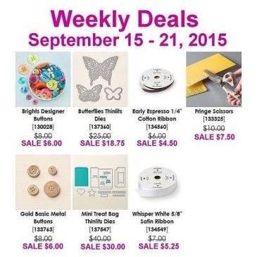 Maui Stamper Weekly Deals Sept 15-21, 2015
