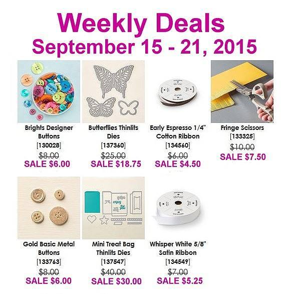 Maui Stamper Weekly Deals Sept 15-21, 2015