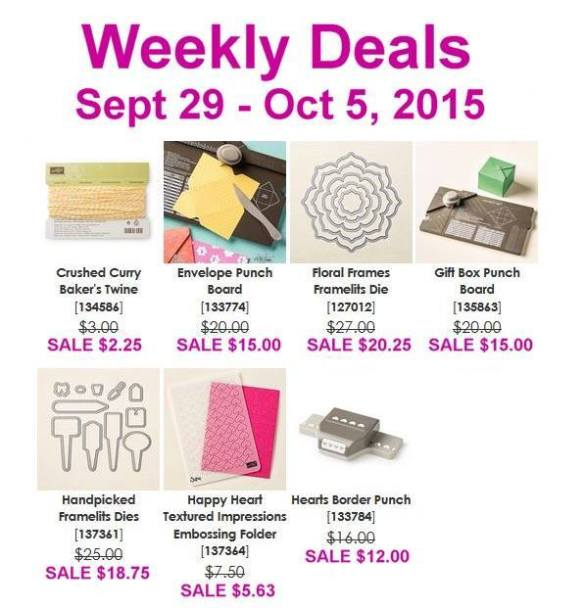 MauiStamper Weekly Deals September 29-October 5, 2015
