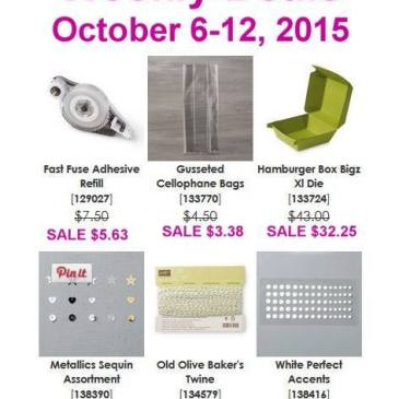 Maui Stamper Weekly Deals October 6-12, 2015