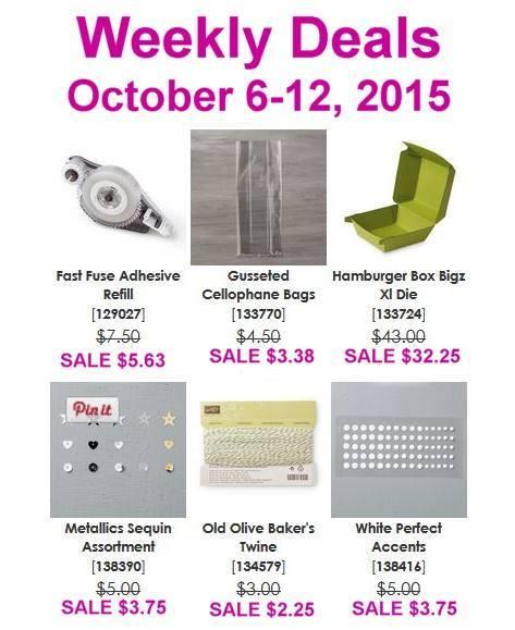 Maui Stamper Weekly Deals October 6-12, 2015