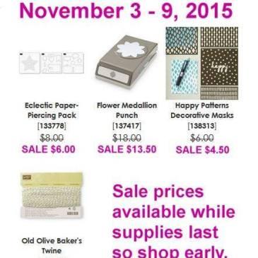Maui Stamper Weekly Deals November 3-9, 2015