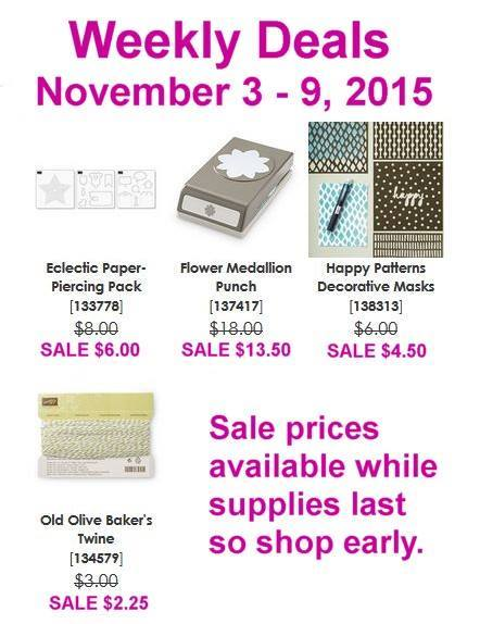 Maui Stamper Weekly Deals November 3-9, 2015