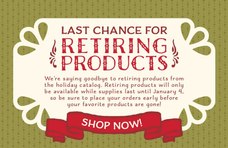 2015 Holiday Catalog Retiring Products