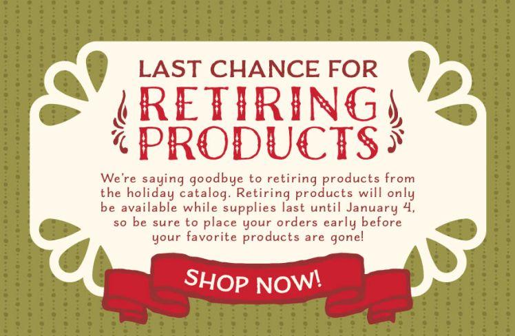 2015 Holiday Catalog Retiring Products