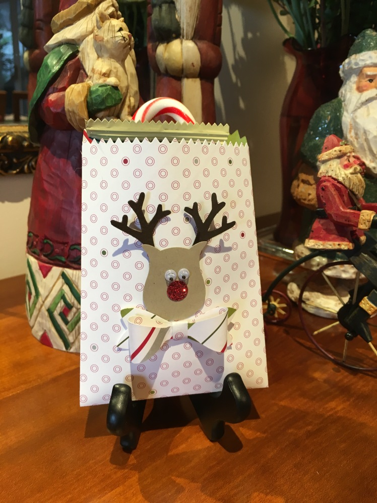 MauiStamper Reindeer Treat bag