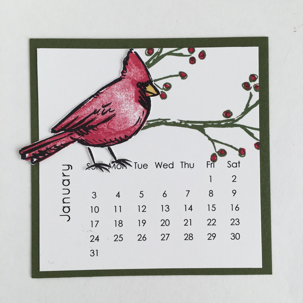 Maui Stamper DIY Easel Calendar January 2016