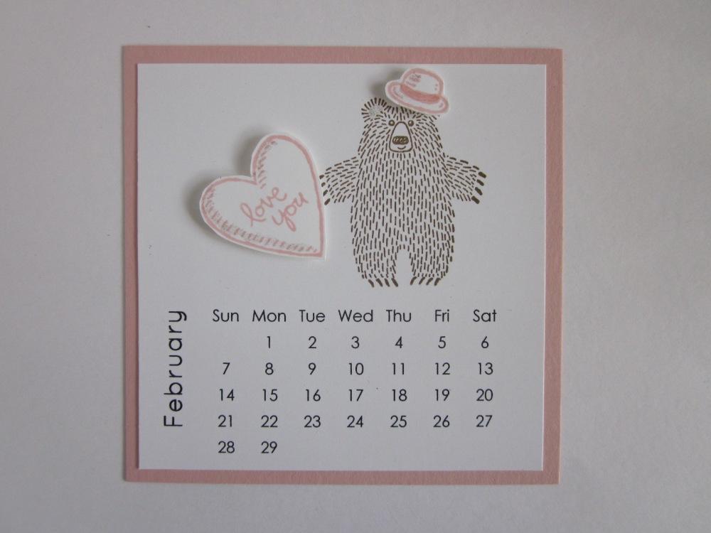 Maui Stamper DIY Easel Calendar February 2016