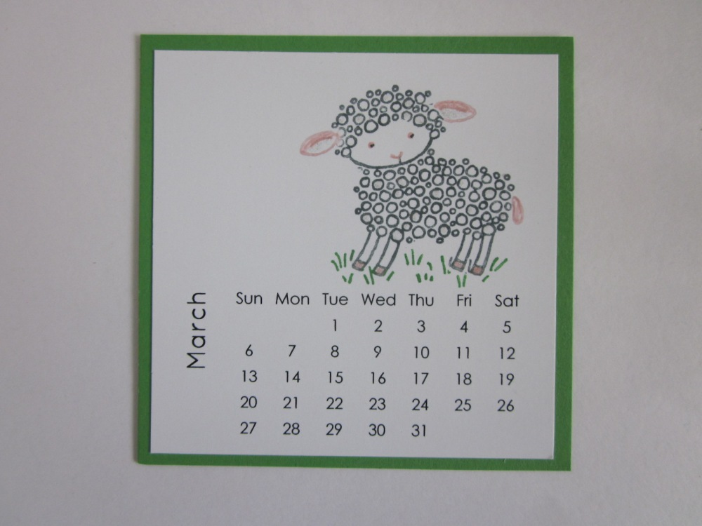 Maui Stamper DIY Easel Calendar March 2016