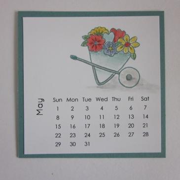 Maui Stamper DIY Easel Calendar May 2016