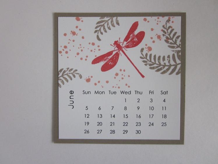 Maui Stamper DIY Easel Calendar June 2016