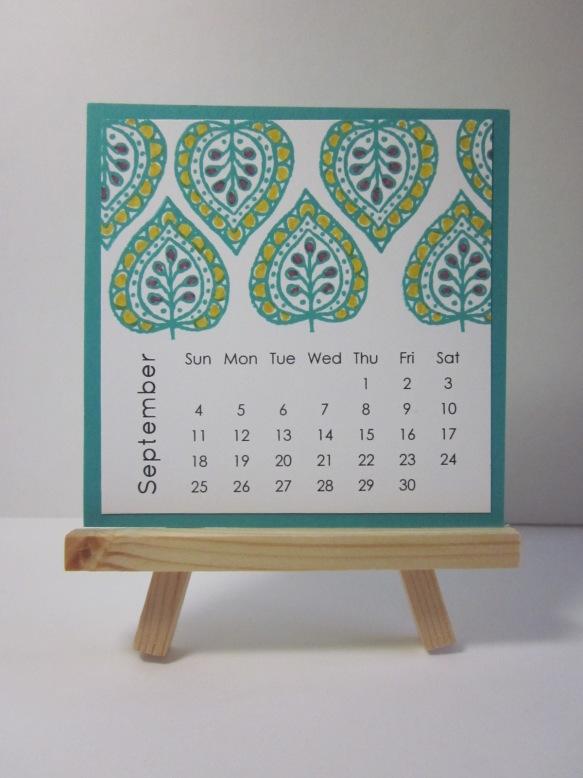 Maui Stamper DIY Easel Calendar September 2016