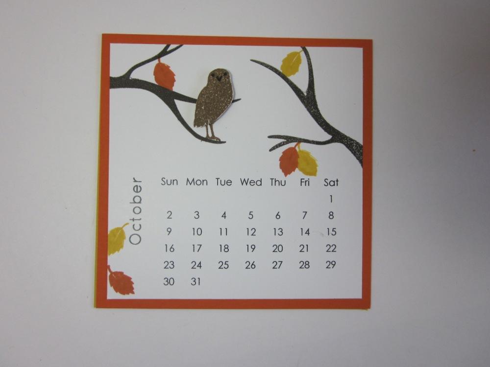 Maui Stamper DIY Easel Calendar October 2016