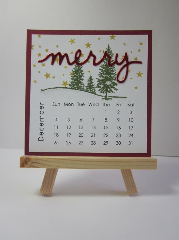 Maui Stamper DIY Easel Calendar December 2016