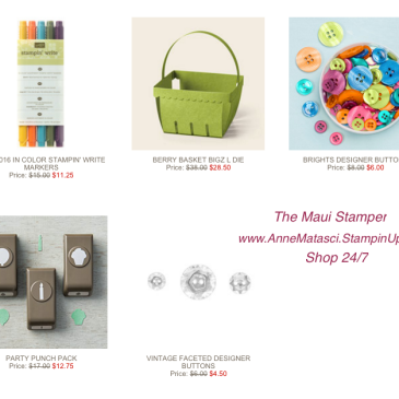 Maui Stamper Weekly Deals January 19-25 2016
