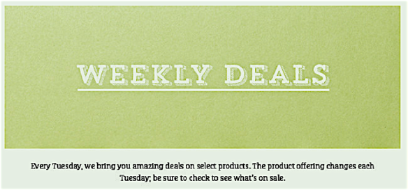 Weekly Deals Header