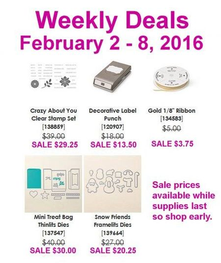 Maui Stamper Weekly Deals February 2-8 2016
