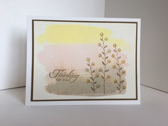 Maui Stamper Flowering Fields Watercolor Wash