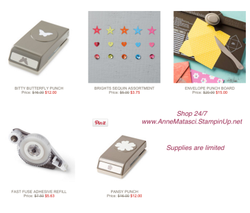 Maui Stamper Stampin' Up! Weekly Deals February 16-22, 2016