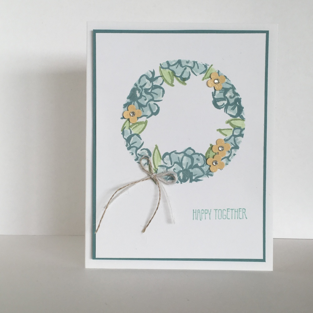 Maui Stamper What I Love Clean and Simple Wreath