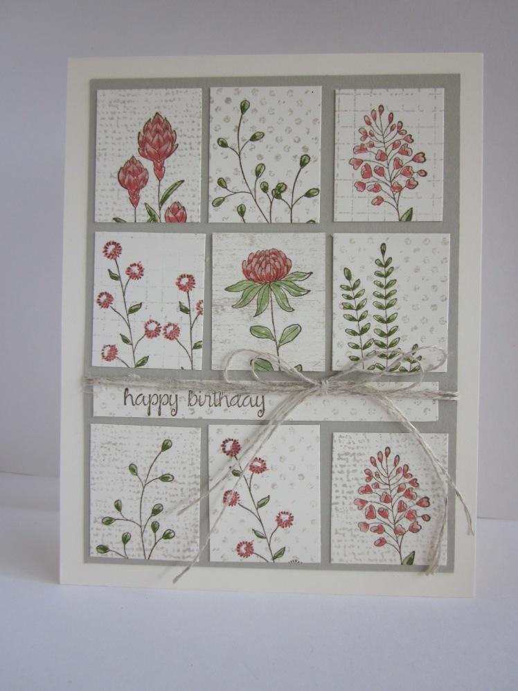 Maui Stamper Flowering Fields Tile card