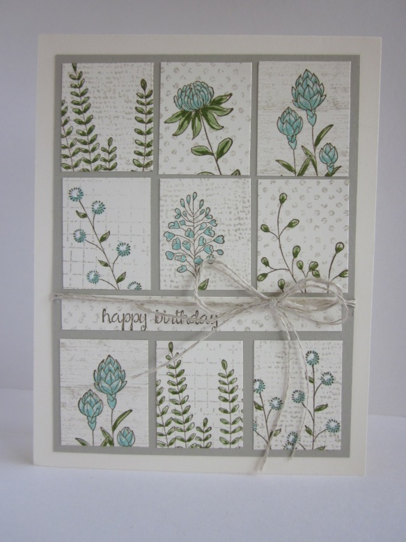 Maui Stamper Flowering Fields Tile card