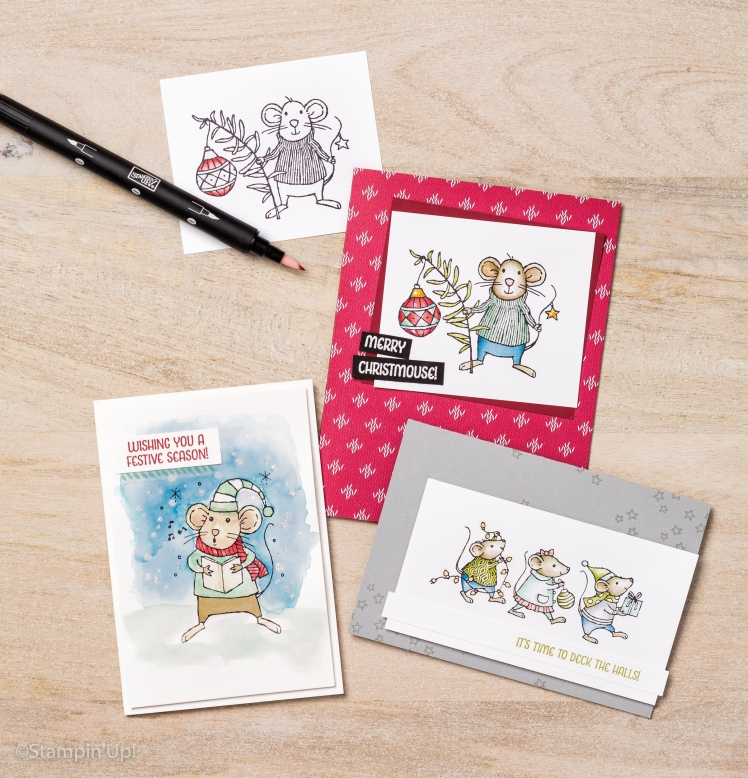Maui Stamper Holiday 2016 Merry Mice