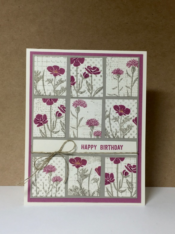 Maui Stamper Wild About Flowers Tile card