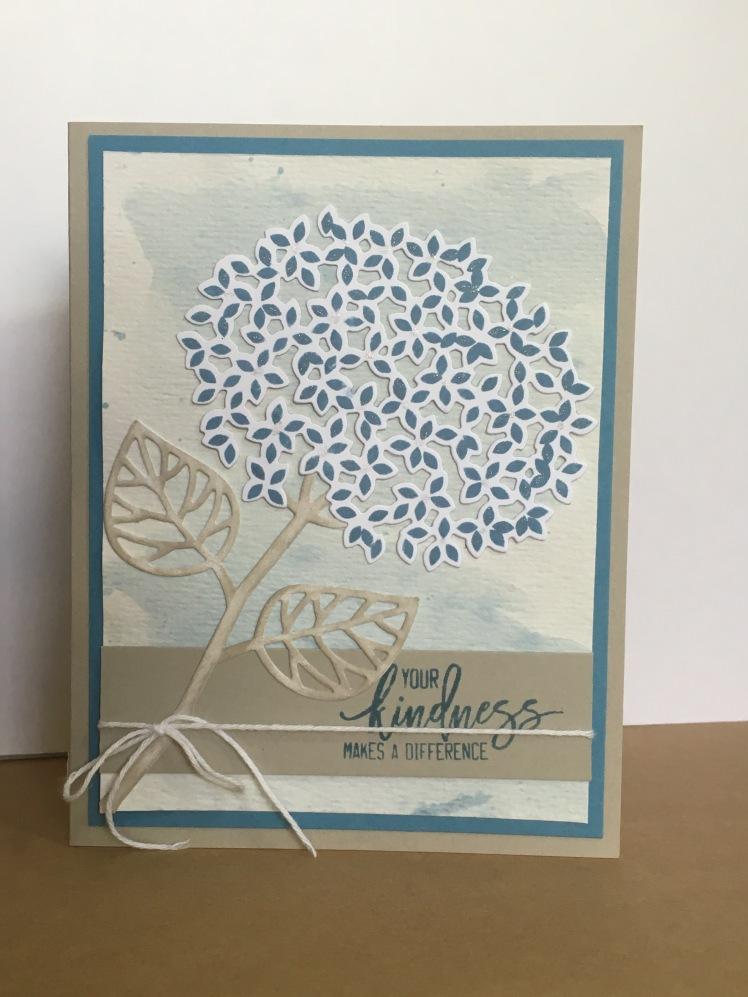 Maui Stamper Thoughtful Branches Hydrangea Watercolor