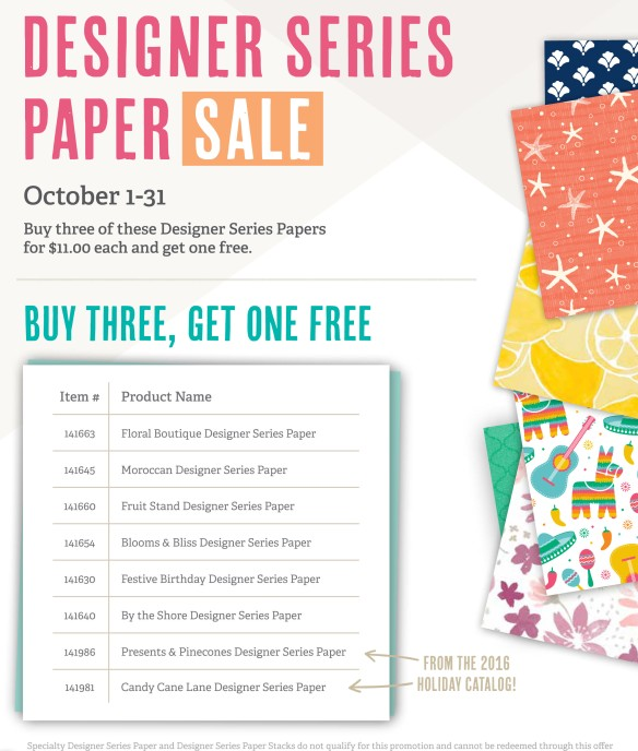 Maui Stamper Designer Series Paper Buy-3-Get-1-Free Sale October 2016