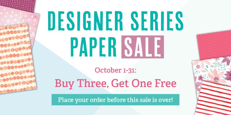 Maui Stamper Designer Series Paper Sale October 2016 Stampin Up