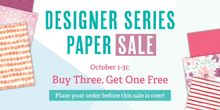 Maui Stamper Designer Series Paper Sale October 2016 Stampin Up