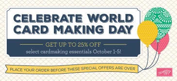 Maui Stamper World Card Making Day Specials October 1-5 2016