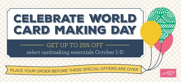 Maui Stamper World Card Making Day Specials October 1-5 2016