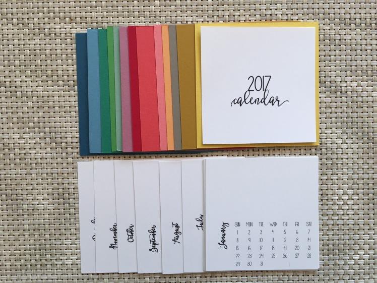 Maui Stamper 2017 DIY Calendar Kit