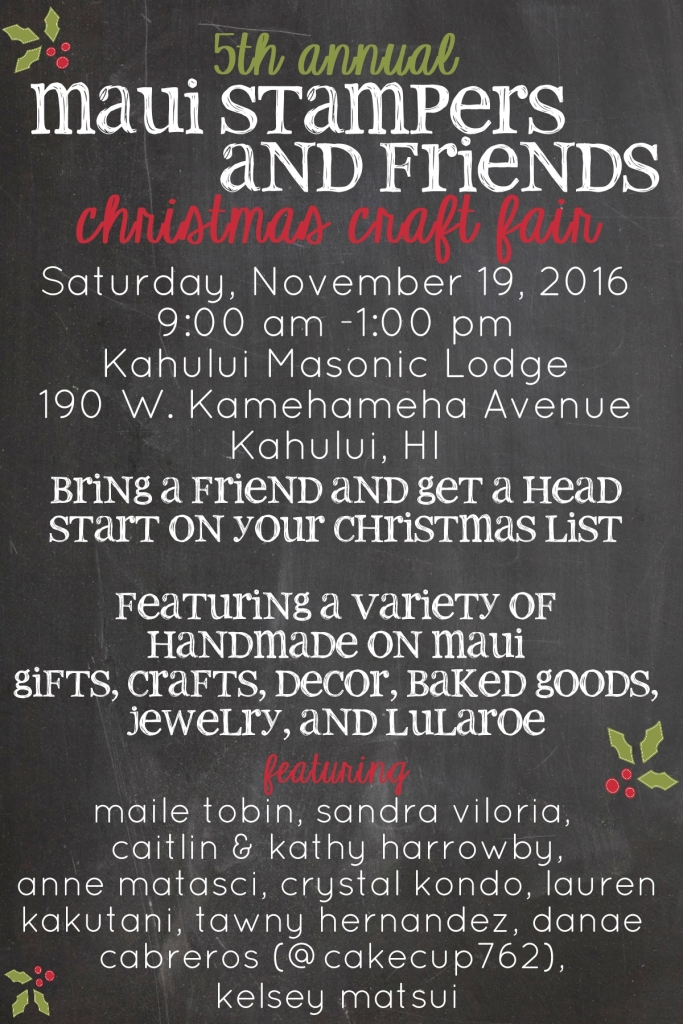 Maui Stampers and Friends Craft Fair 2016