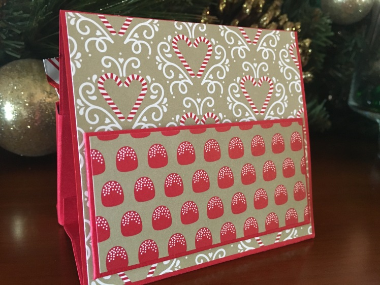 Maui Stamper Candy Cane Christmas Easel Treats