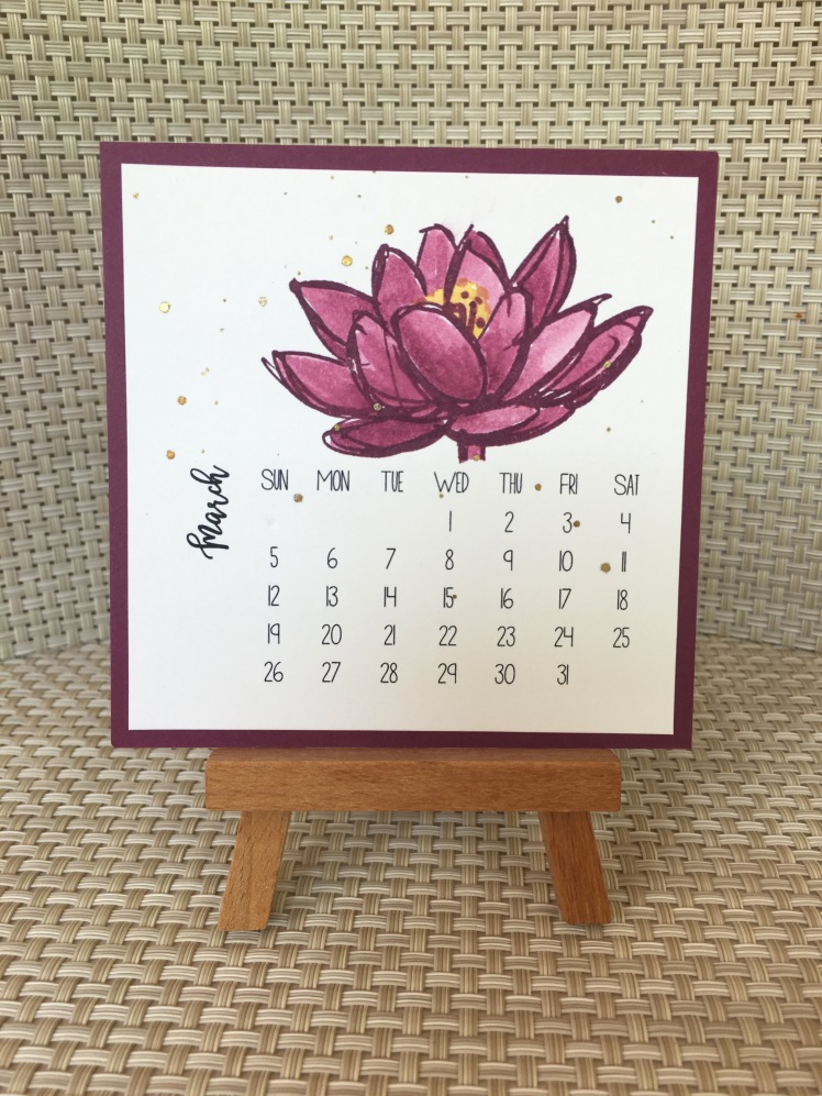 Maui Stamper DIY Easel Calendar Remarkable You