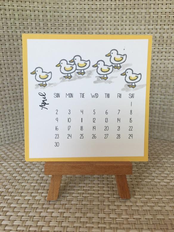 Maui Stamper DIY Easel Calendar Barnyard Babies