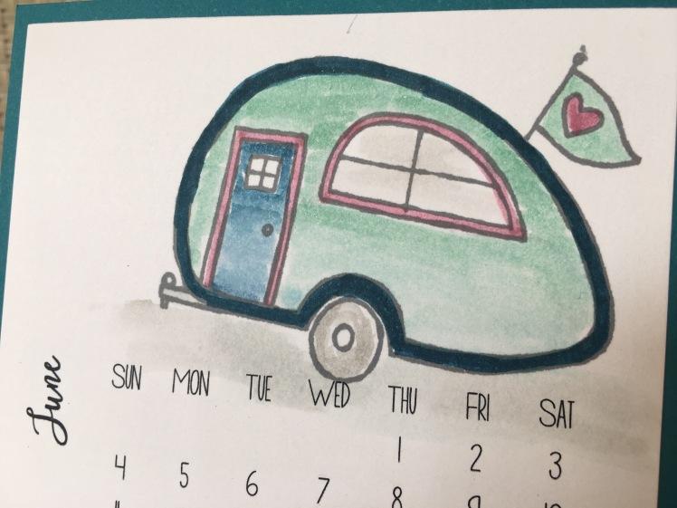 Maui Stamper DIY Easel Calendar You're Sublime